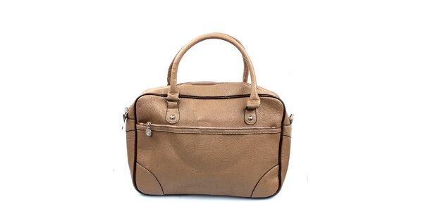 Dámská béžová kabelka s lemováním London Fashion