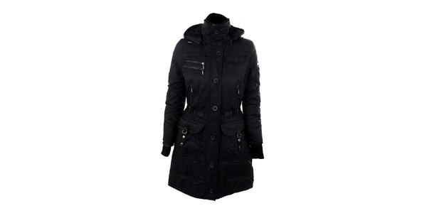 Dámský černý kabát s podšívkou Company&Co
