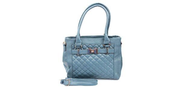 Dámská světle modrá prošívaná kabelka London Fashion
