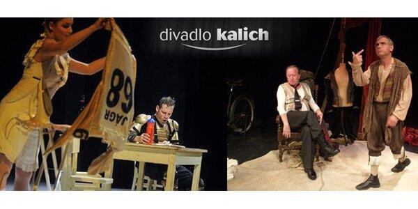239 Kč za lístek na vybraná představení Divadla Kalich v hodnotě 499 Kč.