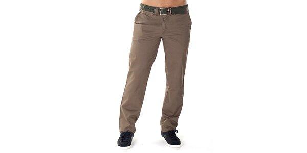 Pánské světle hnědé kalhoty s páskem Bendorff