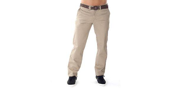 Pánské pískové kalhoty s páskem Bendorff
