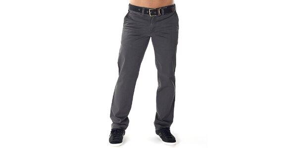 Pánské šedé kalhoty s páskem Bendorff