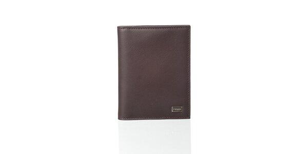 Tmavě hnědá kožená peněženka Gianfranco Ferré