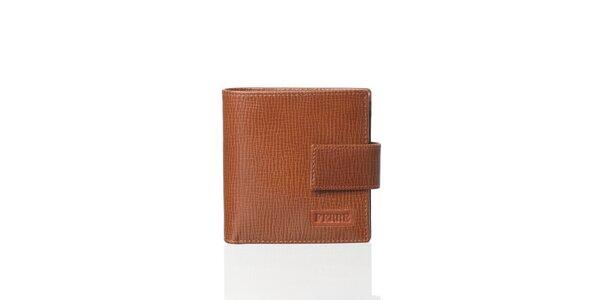 Karamelově hnědá kožená peněženka Gianfranco Ferré