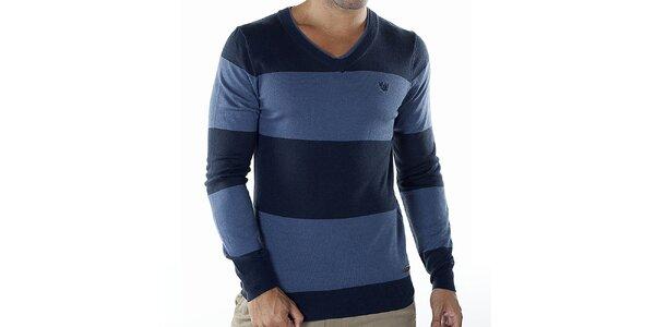 Pánský modře pruhovaný svetr Bendorff