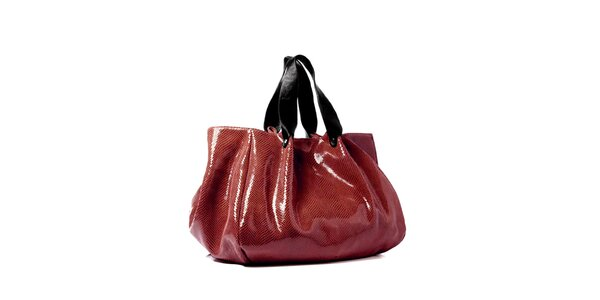Červená maxi kabelka