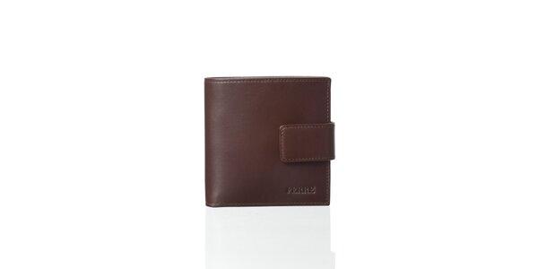 Ebenově hnědá kožená peněženka Gianfranco Ferré