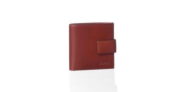 Kaštanově hnědá kožená peněženka Gianfranco Ferré