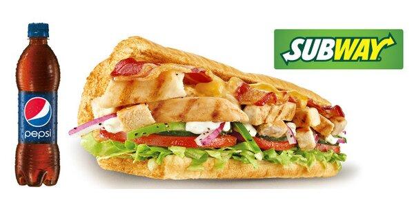 Sendvič a nápoj dle chuti ze Subway Zelný trh