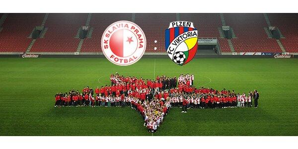 Vstupenka na fotbalový zápas 1. ligy Slavia-Plzeň