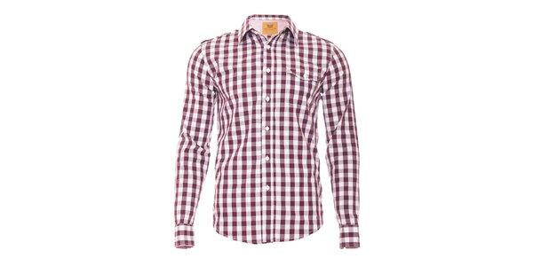 Vínovobílá kostkovaná košile