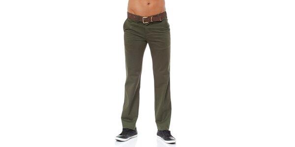 Pánské tmavě zelené chino kalhoty Bendorff