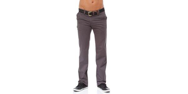 Pánské šedé chino kalhoty Bendorff
