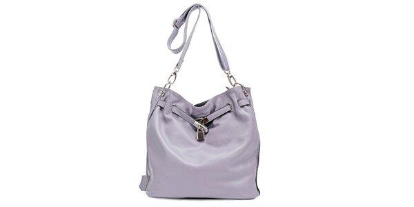 Světle fialová stylová kabelka