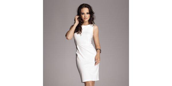 Dámské krémově bílé pouzdrové šaty bez rukávů Figl