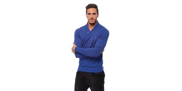 Pánský modrý svetr Bendorff s límcem