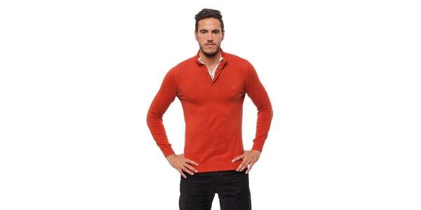 Pánský cihlově červený svetr Bendorff