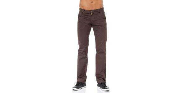 Pánské tmavě hnědé kalhoty Bendorff