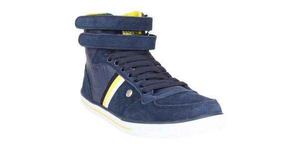 Dámské modré semišové boty Authority