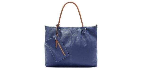 Elegantní modrá kabelka