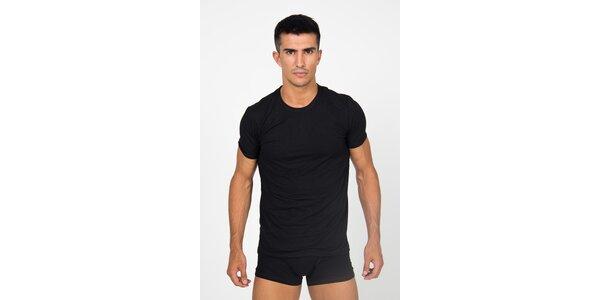Pánské černé podvlékací tričko Roberto Cavalli s potiskem a dlouhým rukávem