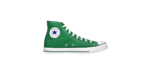 Zelené kotníkové tenisky Converse