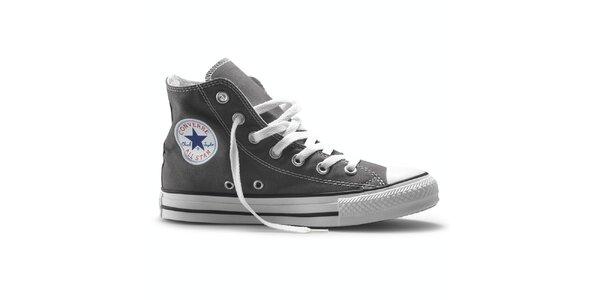 Šedé kotníkové tenisky Converse