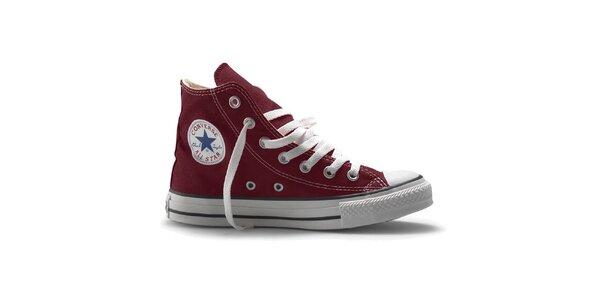 Tmavě červené kotníkové tenisky Converse