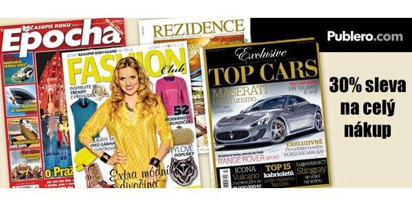 30% sleva na elektronické verze časopisů