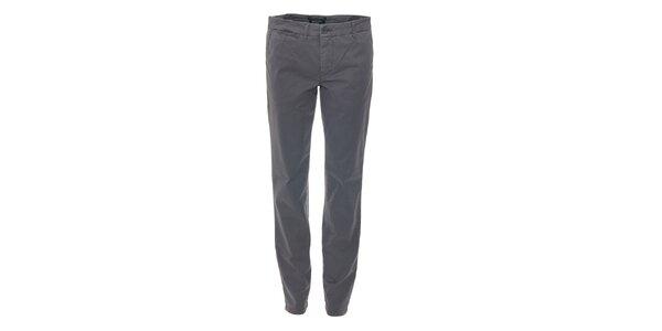 Ležérní hnědošedé kalhoty