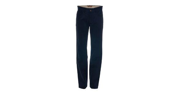 Tmavě modré kalhoty s kapsami
