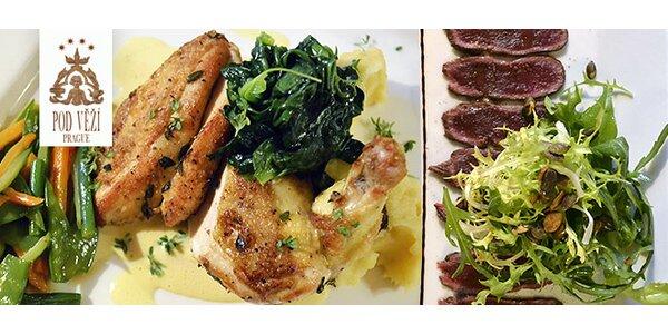 Tříchodové menu pro dva v luxusní restauraci na Malé Straně