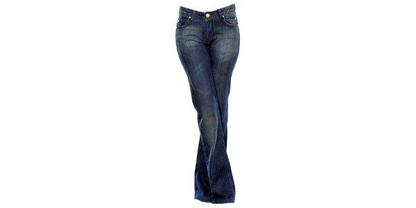 Dámské modré boot-cut džíny Ruby London