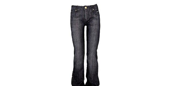 Dámské šedo-černé boot-cut džíny Ruby London