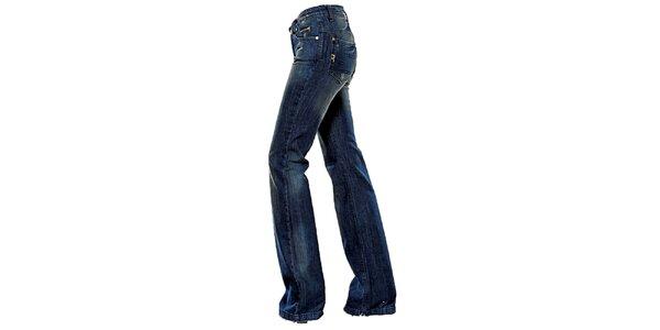Dámské tmavě modré boot-cut džíny Ruby London