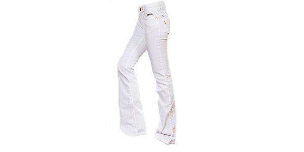 Dámské bílé boot-cut džíny Ruby London