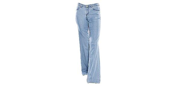 Dámské světle modré zvonové džíny Ruby Blue