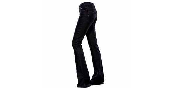 Dámské tmavě modré zvonové džíny Ruby London
