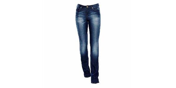 Dámské straight-leg modré džíny Ruby London