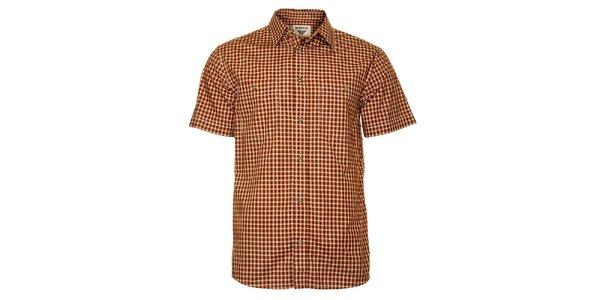 Pánská červeno-hnědá kostkovaná košile Bushman