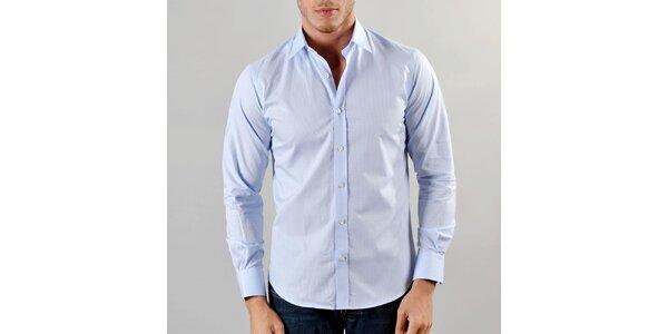 Pánská modrá košile s kostičkami Marcel Massimo