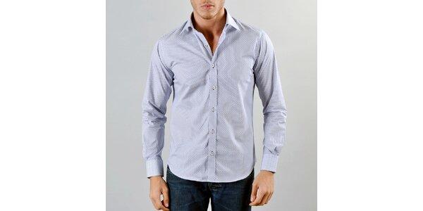Pánská modrá košile Marcel Massimo s přerušovanými proužky