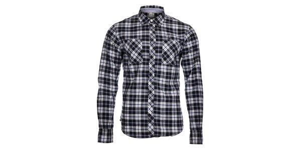 Pánská černo-bílá kostkovaná košile Tommy Hilfiger