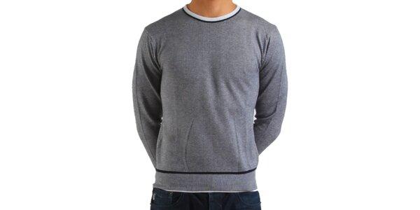 Pánský šedý svetr Calvin Klein