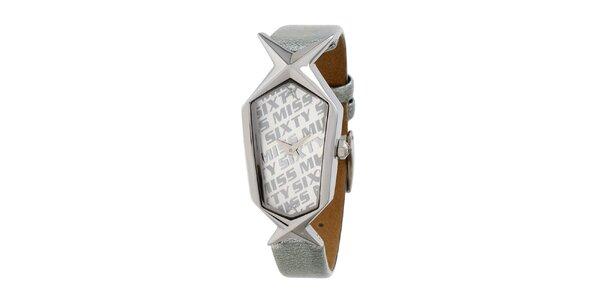 Dámské stříbrné hodinky s hvězdičkou Miss Sixty