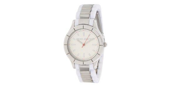 Dámské bílo-stříbrné analogové hodinky Miss Sixty