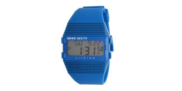 Dámské modré plastové hodinky s bílými detaily Miss Sixty