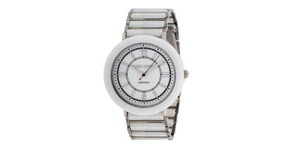 Dámské bílé hodinky s keramickými prvky Miss Sixty