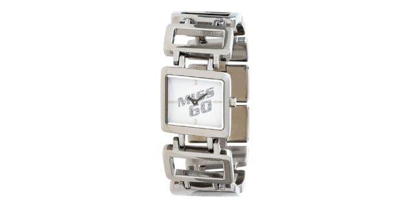 Dámské stříbrné náramkové hodinky Miss Sixty